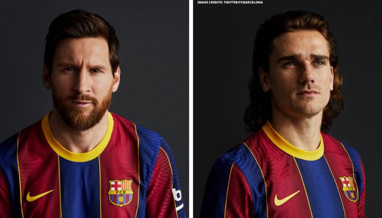 Lionel Messi Shows Off Barcelona S New Colours As Club Unveils New Home Kit For 2020 21