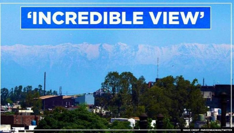 Jalandhar sees Dhauladhar range the first time ever, pictures shared by Parveen Kaswan