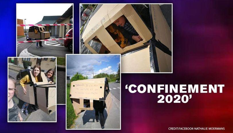 COVID-19: Belgian mom takes daughter to McDonald's in 'cardboard car' amid lockdown