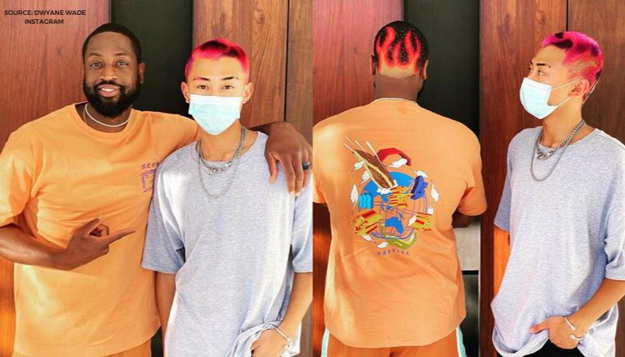 Dwyane Wade shows off new hairstyle a la Dennis Rodman, done by 17-year-old stylist - Republic World