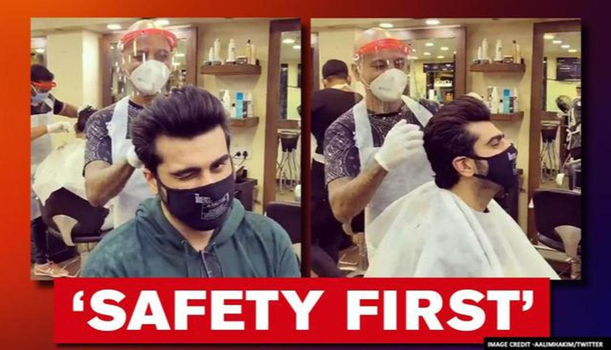 'New but safe experience': Arjun Kapoor gets a haircut from Hakim Aalim amid Unlock 2.0 - Republic World