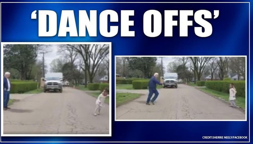 COVID-19: Video of grandfather dancing with granddaughter while social distancing surfaces
