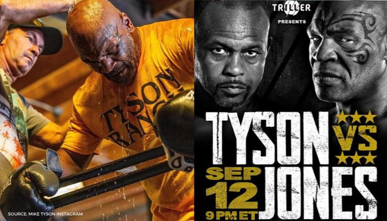 mike tyson using electric muscle stimulation to prepare for sept 12 return vs roy jones mike tyson using electric muscle