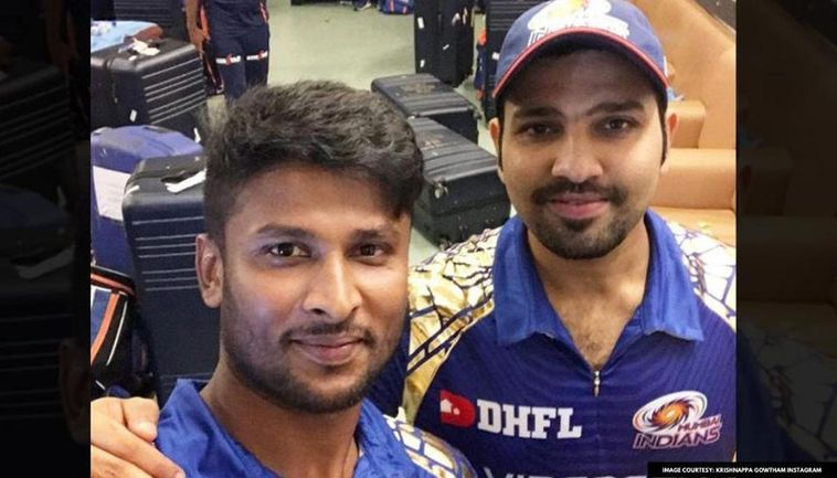Krishnappa Gowtham With Rohit Sharma (Instagram)
