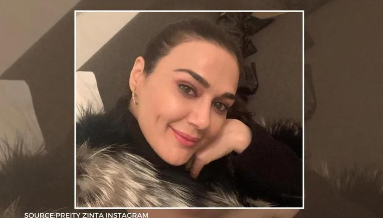 Preity Zinta shares a pic with 'excited' Chris Gayle & Mandeep after team Punjab's big win