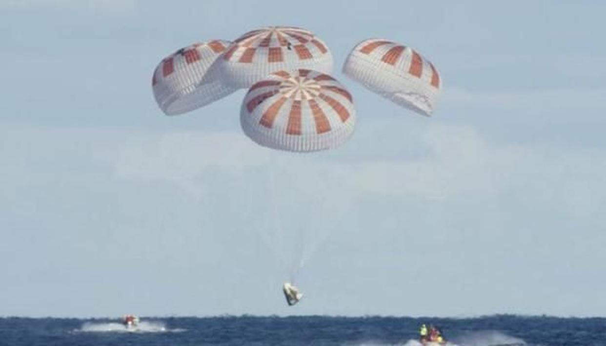 Crew Dragon splashdown in Gulf of Mexico successful, first crew recovery at sea since 1975 - Republic World