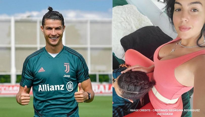 Georgina Rodriguez Braids Cristiano Ronaldo S Hair Ahead Of Return To Juventus Training
