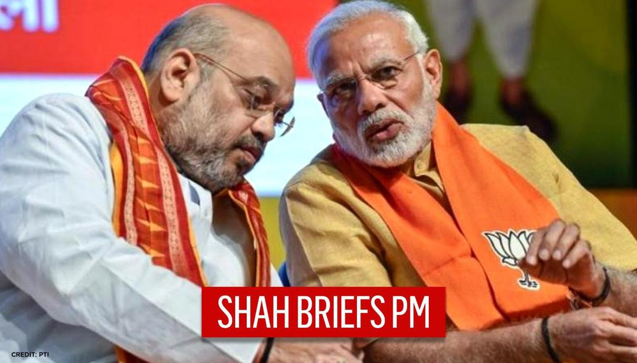 PM Modi meets Amit Shah ahead of BJP CEC to finalise party's strategy for assembly polls