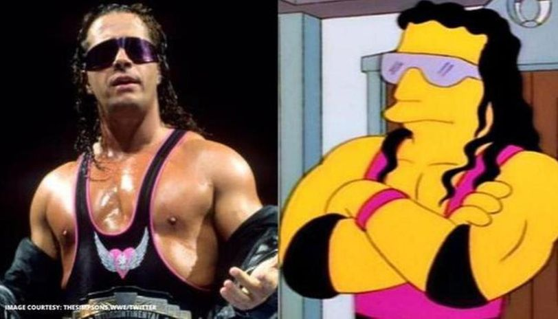 When Wwe Hall Of Famer Bret Hart Left Fans Confused Whether He Was On The Simpsons In 1997 Republic World