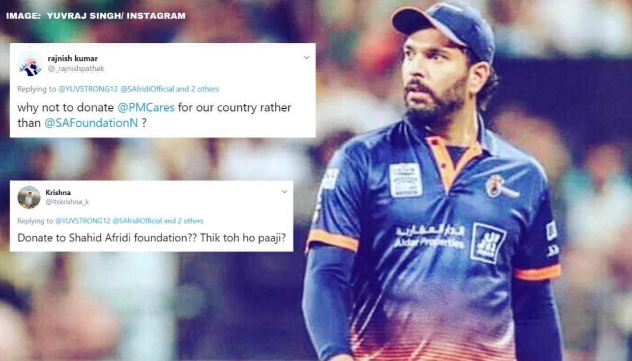 Yuvraj Singh criticised for donating to Shahid Afridis foundation for COVID-19 relief thumbnail