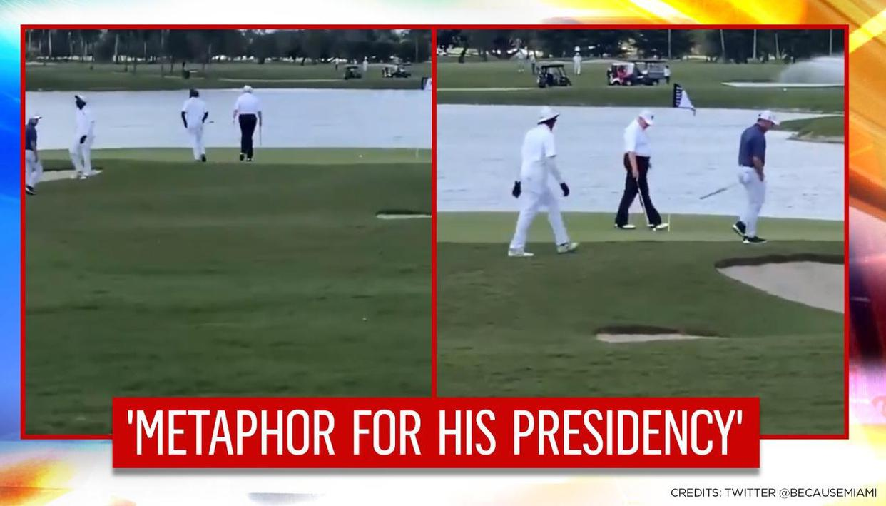 Video of Trump playing golf goes viral; netizens say once a cheater, always a cheater - Republic TV