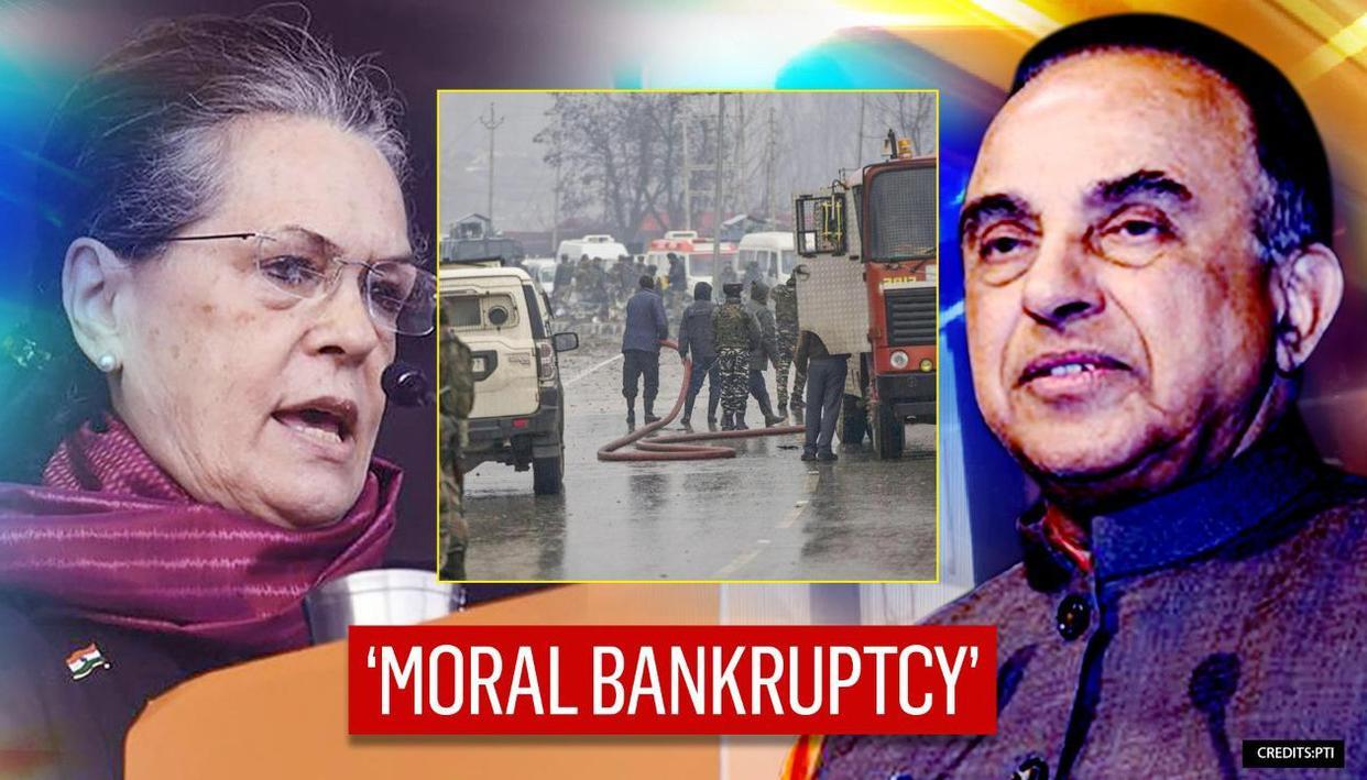 Subramanian Swamy responds as Pakistan admits Pulwama attack; slams Sonia & Rahul Gandhi