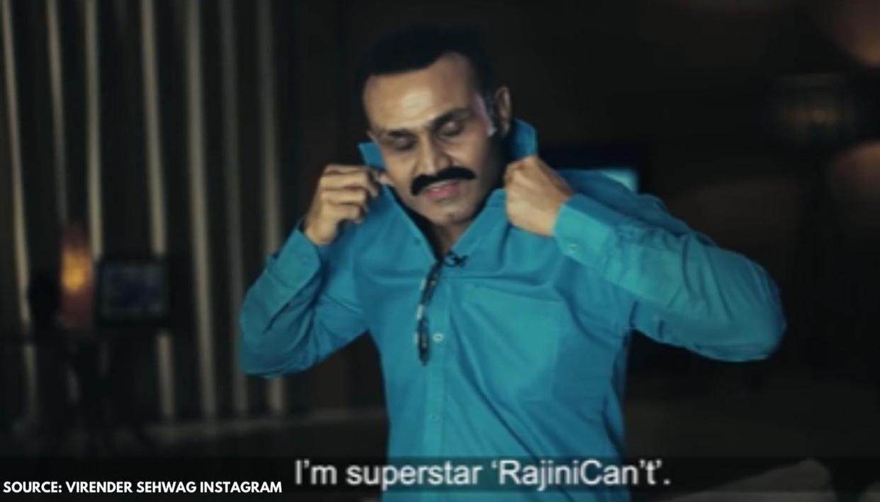 Virender Sehwag copies Rajinikanth to mock Chennai, calls Saurabh Tiwary 'Samosa Pav' - Republic World