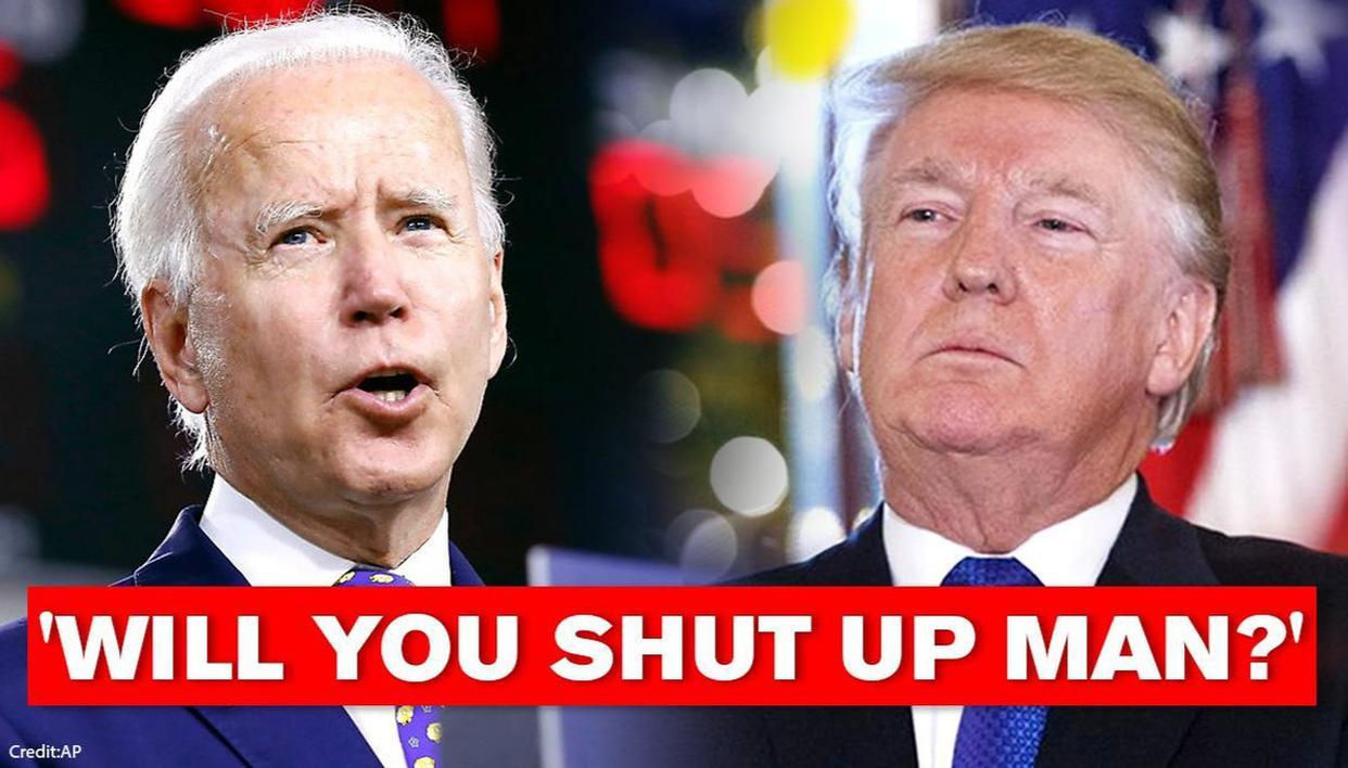 Will You Shut Up Man Anti Trump Pro Biden 2020 For President Langarmshirt