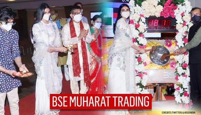 Athiya Shetty star attraction at BSE's Muhurat Trading on Diwali, rings Opening Bell