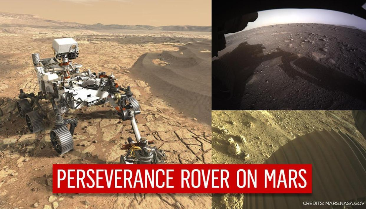NASA shares stunning images of Mars taken by Perseverance rover