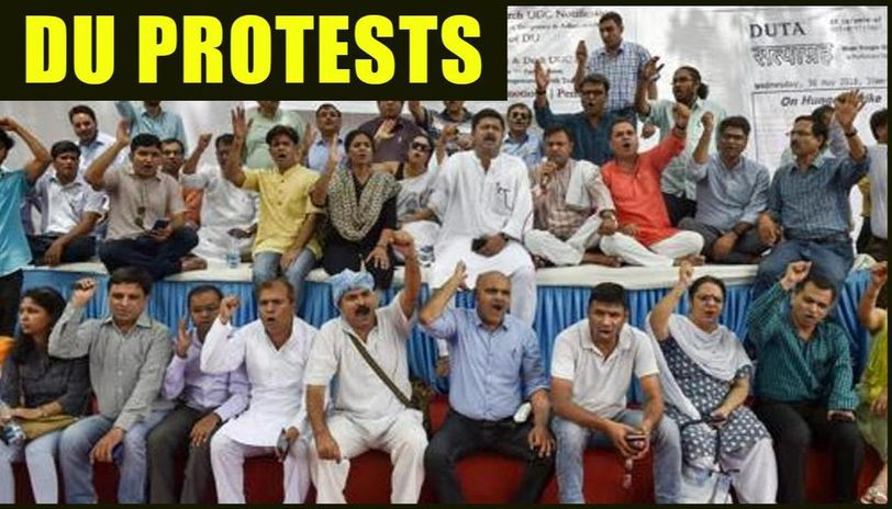 DU teachers, students march against non-appointment of Hindi dept head -  Republic World
