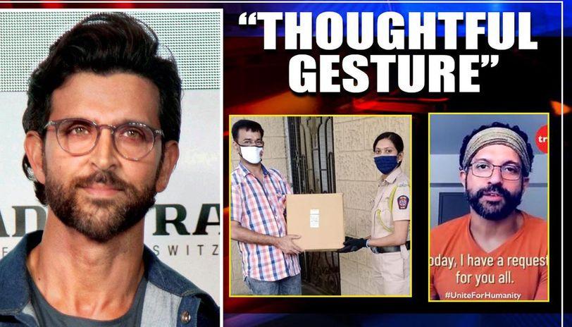 COVID-19: Hrithik Roshan has special gesture for Mumbai Police; Farhan Akhtar donates PPEs