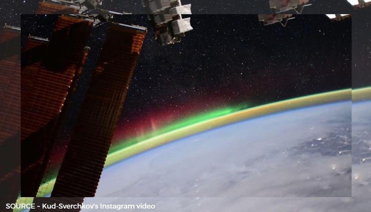 Russian Astronaut Kud-Sverchkovs Instagram video from ISS shows Orange Halo around Earth - Republic World