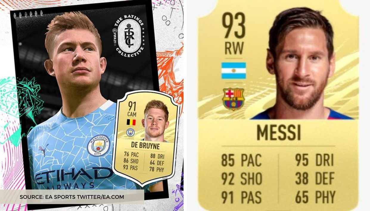 De Bruyne overtakes Lionel Messi in FIFA 21 as the player with the best  passing stats