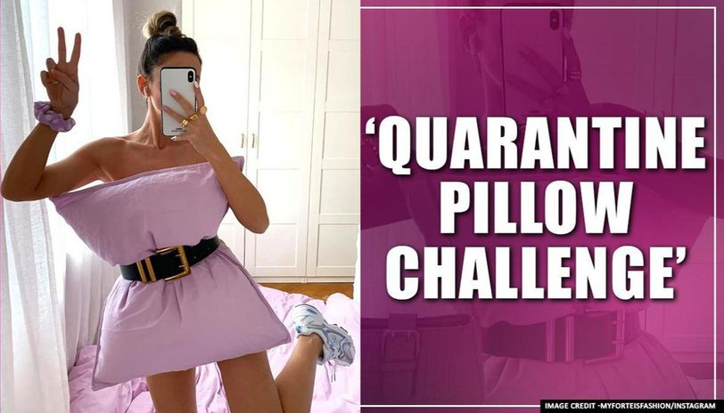 Quarantine Pillow Challenge: Instagram users turn pillows into dresses amid quarantine