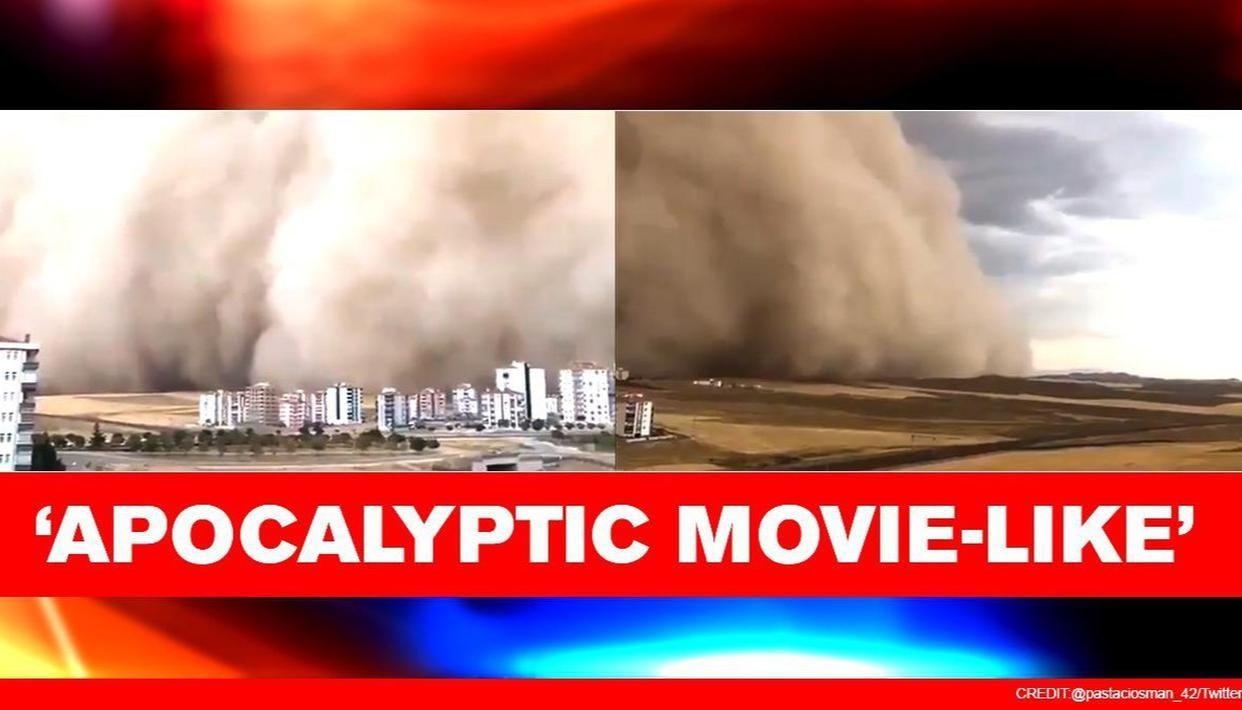 Turkish capital Ankara hit by massive sandstorm, 6 injured; spine-chilling visuals inside - Republic World