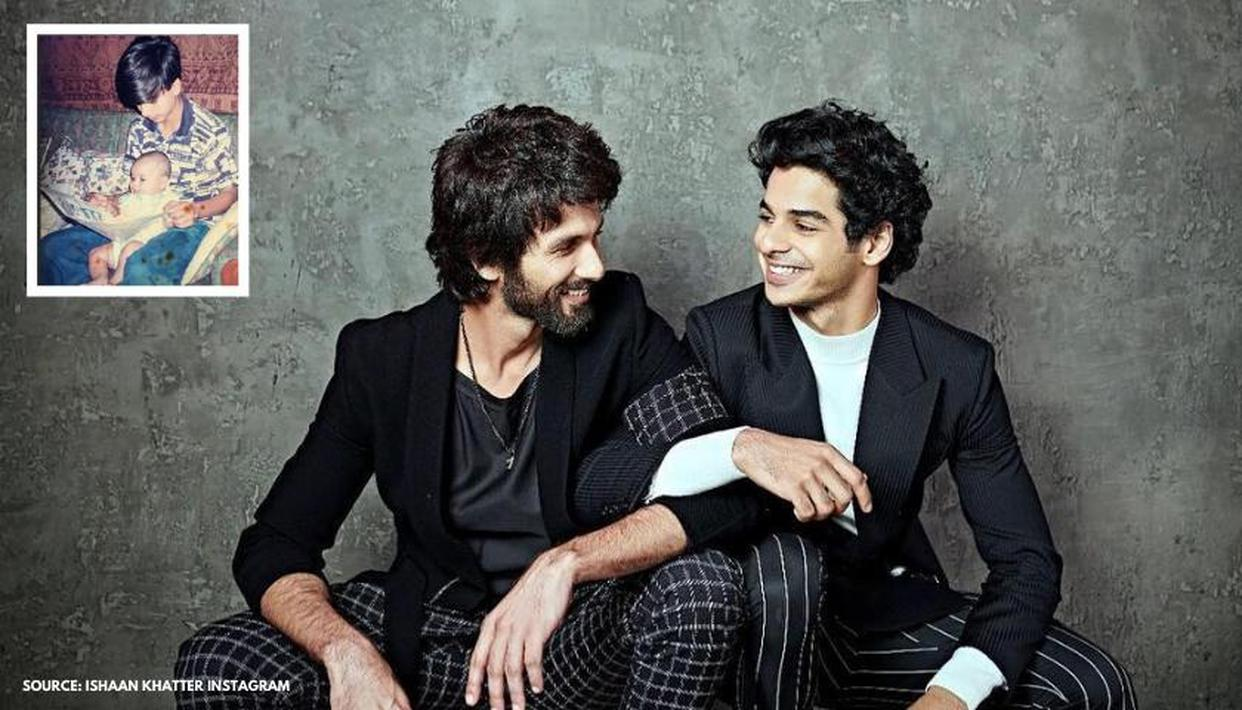 Unseen Picture: Ishaan Khatter shares cute baby pic with his 'pillar to lean on' Shahid - Republic World