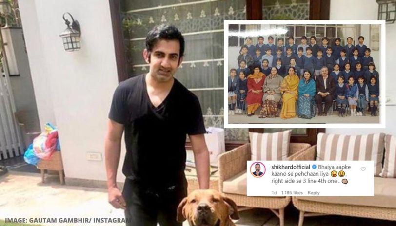 Gautam Gambhir posts picture from school days, Shikhar ...