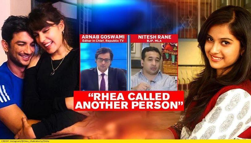 Sushant Spoke To Rhea After Disha Salian Told Him Of Wrong At June 8 Party Nitesh Rane Republic World