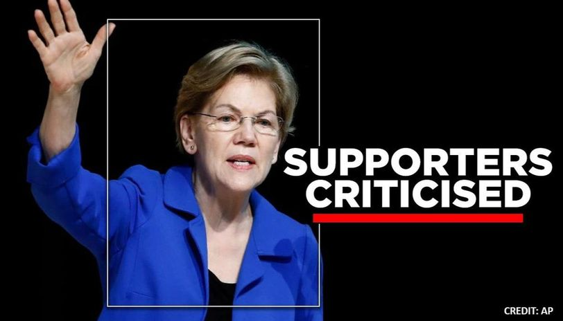 Elizabeth Warren supporters criticized