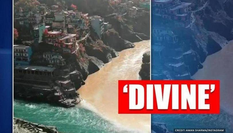 Video of confluence of Alaknanda and Bhagirathi in Devprayag wins internet