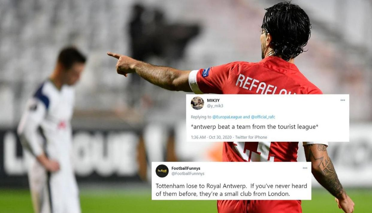 Tottenham Trolled Online After Shock Defeat To Antwerp In The Europa League