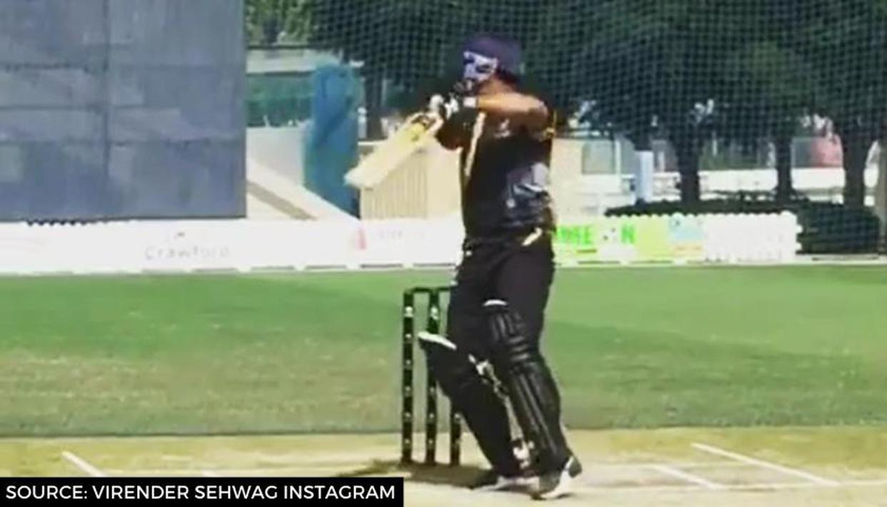 Virender Sehwag turns back the clock, delights fans with classic upper cut in Dubai: WATCH