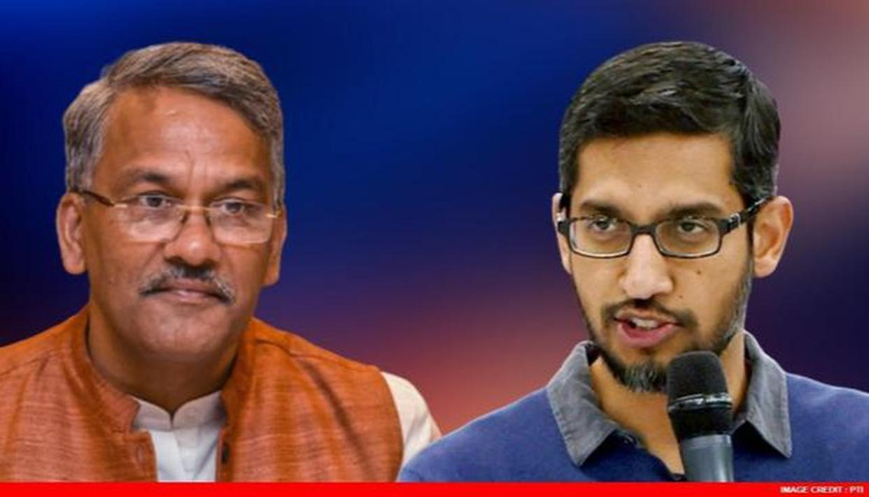 Uttarakhand CM writes to Sundar Pichai to invest in the state