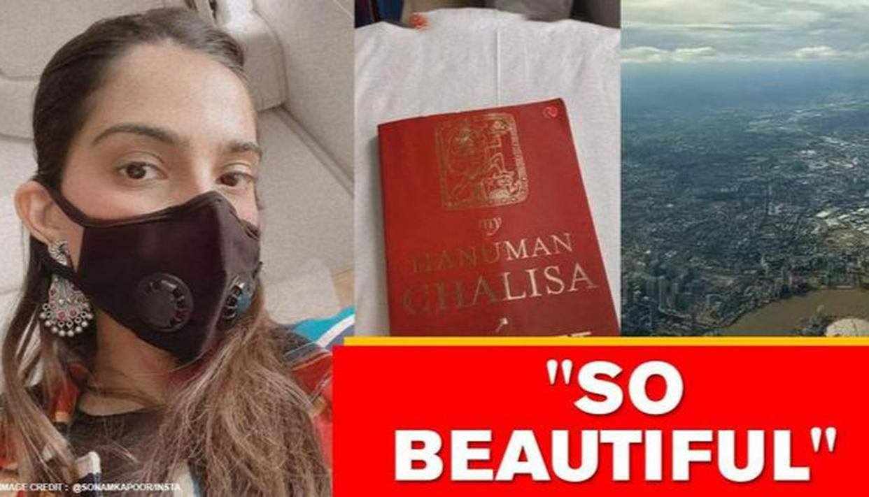 Sonam Kapoor heads to London amid COVID-19, reads book on Hanuman Chalisa during journey - Republic World