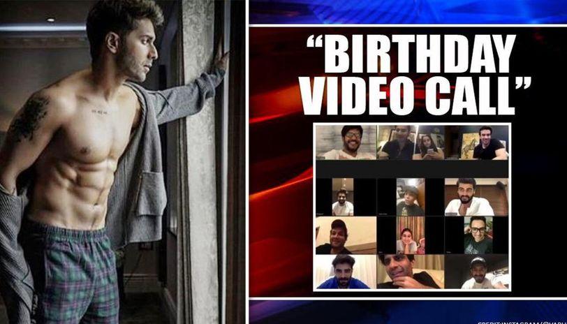 Sara Ali Khan, others join Varun Dhawan on video call; birthday boy has special companion