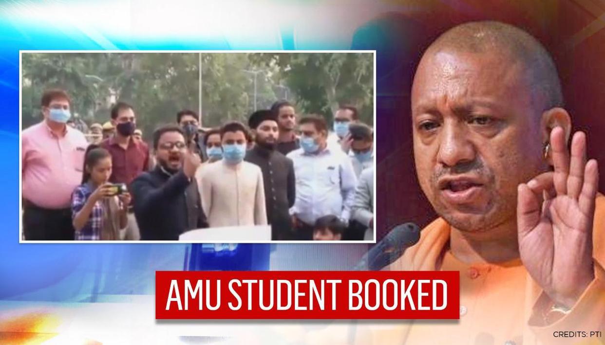 Aligarh police book AMU student Farhan Zuberi for 'beheading' jibe at anti-Macron protest