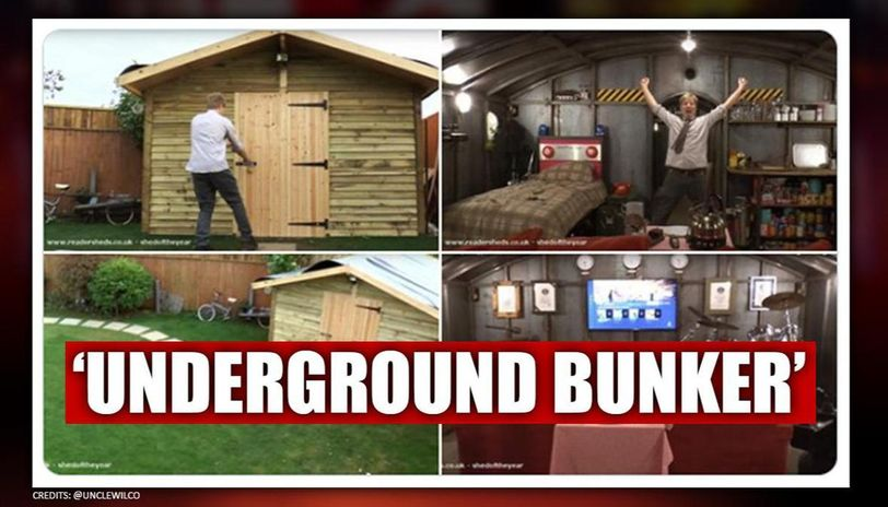YouTuber makes bunker for self-isolation with Sky, games consoles and a bed