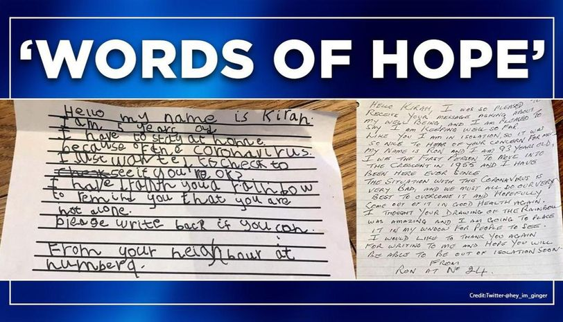 Coronavirus: 5-year-old writes to 93-year-old neighbour, amid lockdown