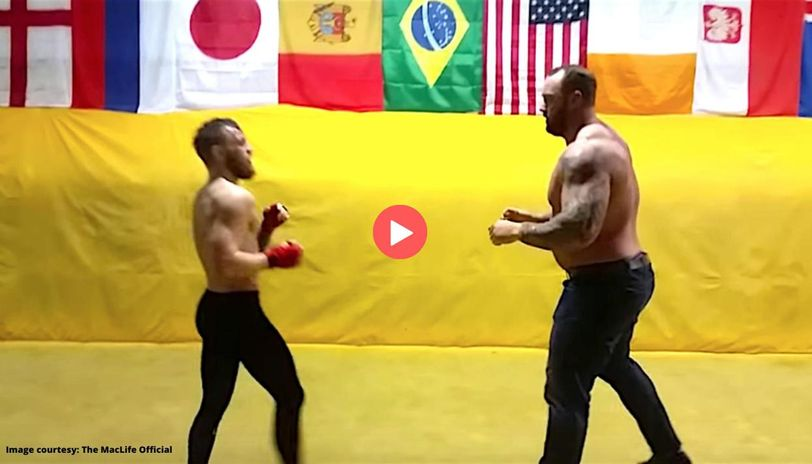 conor mcgregor sparring with the mountain