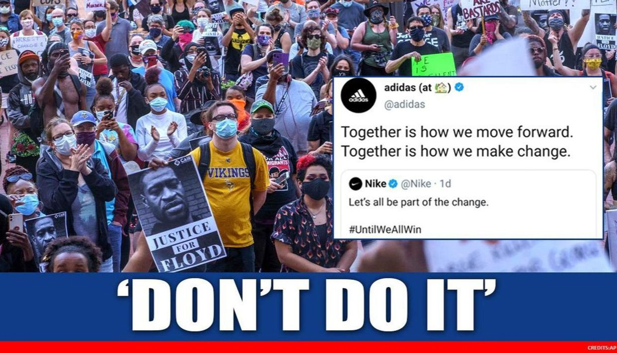 Adidas Shares Nike S Don T Do It Video Backing George Floyd Protests Gets Lovely Reply