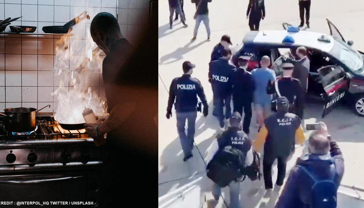Fugitive Italian gangster gets caught after police identify his tattoos in cooking video