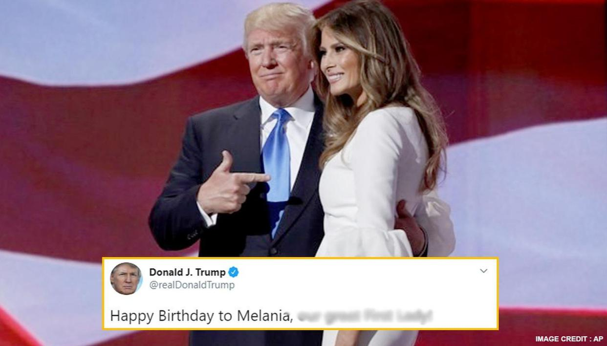 Trump Resorts To Tried And Tested Adjective To Wish Us First Lady Melania On Birthday