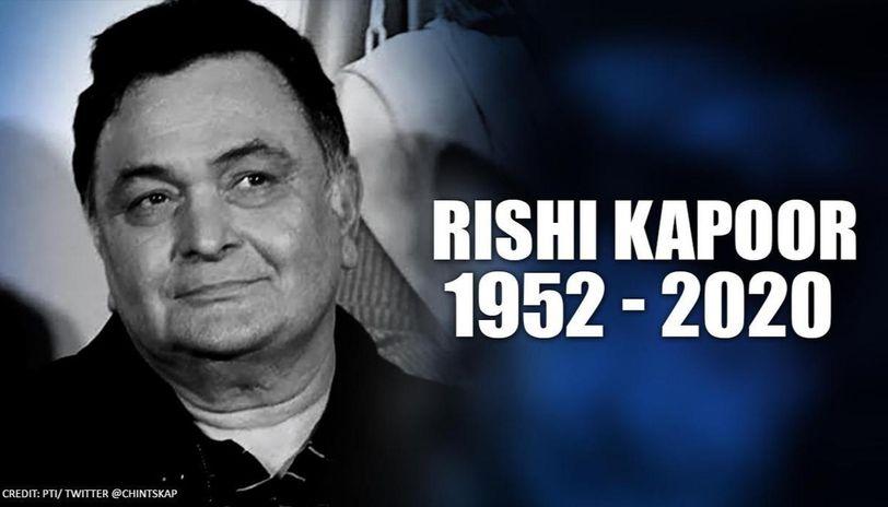 Rishi Kapoor death: Sidharth Malhotra says 'Indian cinema has lost a gem today,'shares thr