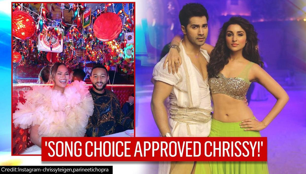 Varun Dhawan and Parineeti Chopra react to Chrissy Teigen grooving on 'Jaaneman Aah'