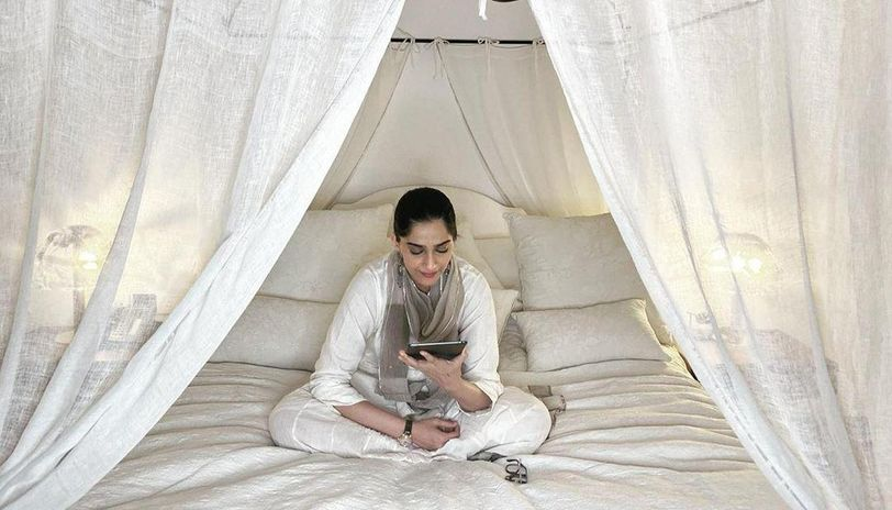 Sonam Kapoor bedside table medicines anand ahuja book