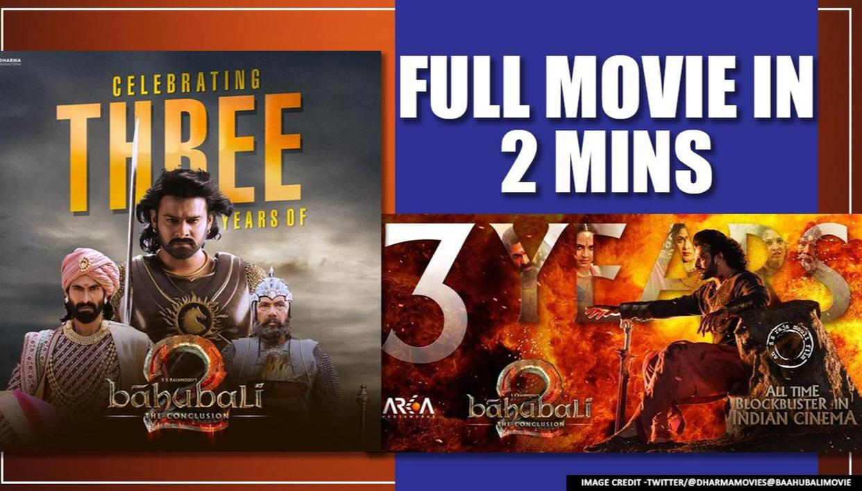 3 Years Of Baahubali 2 Short On Time Watch Rajamouli S Blockbuster Full In 2 Minutes Republic World