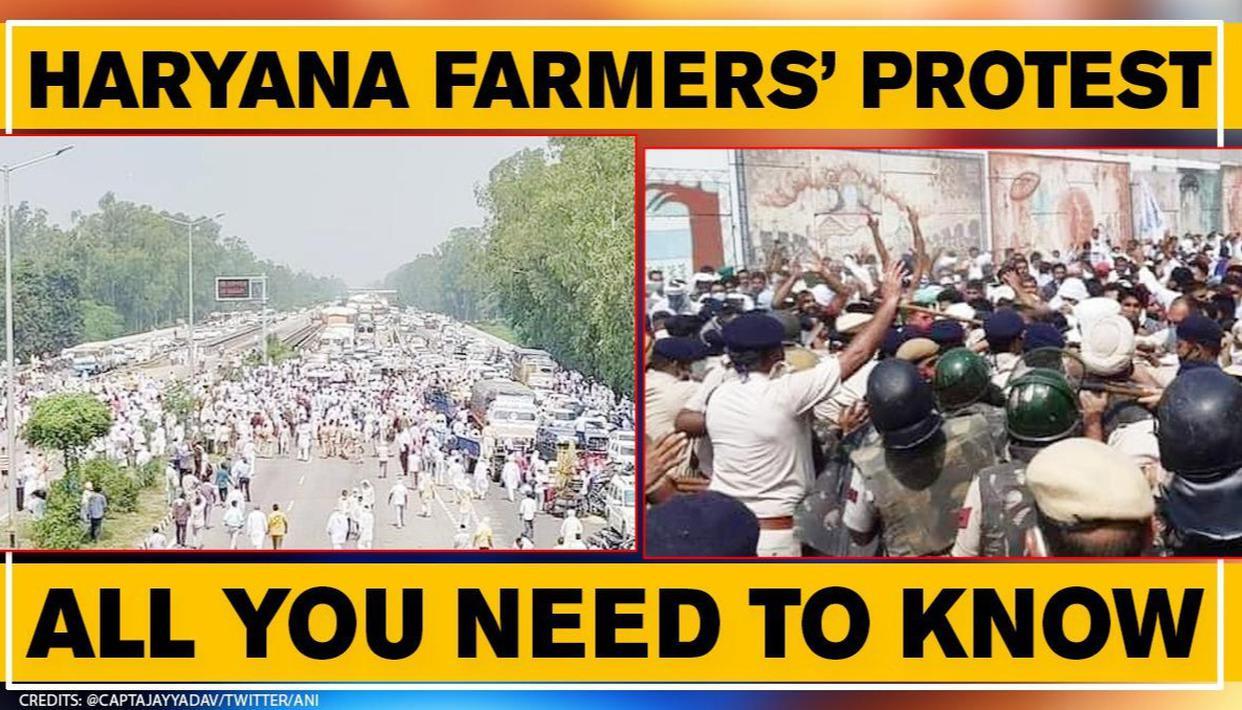Haryana farmers protest over Central ordinances; Police files FIR as  Cong-BJP lock horns