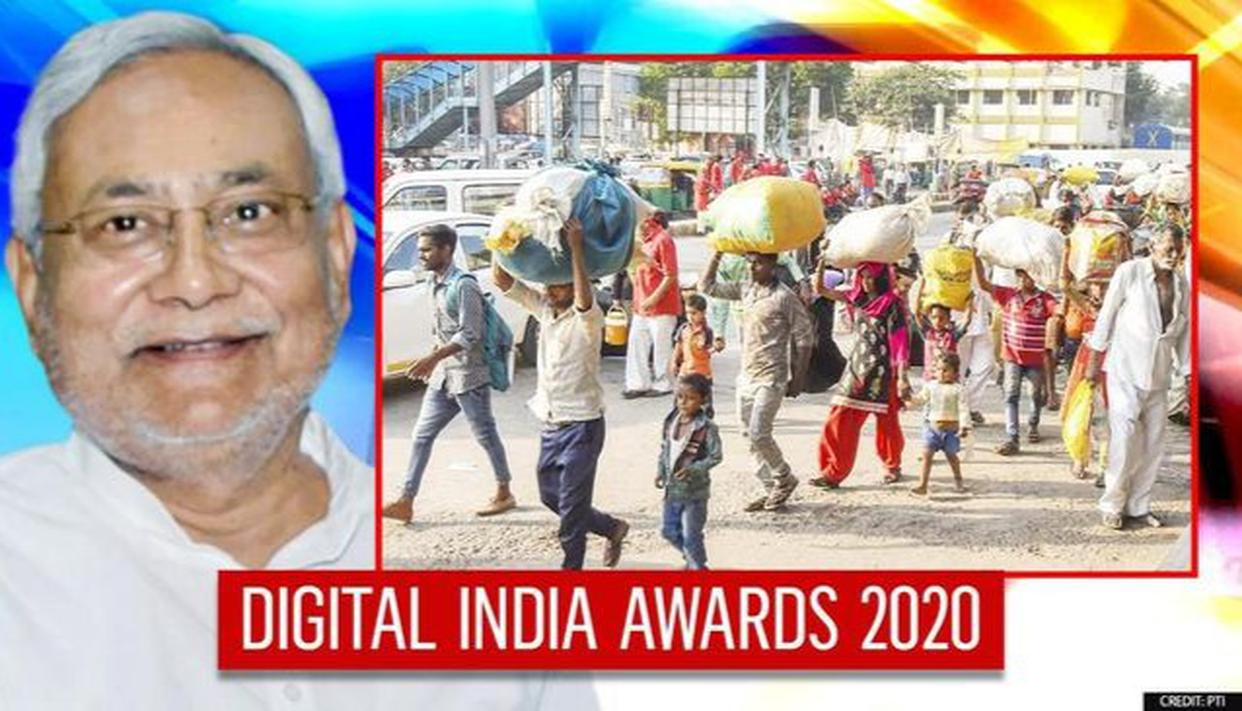 Bihar wins award for its financial assistance scheme for workers amid  COVID-19 pandemic