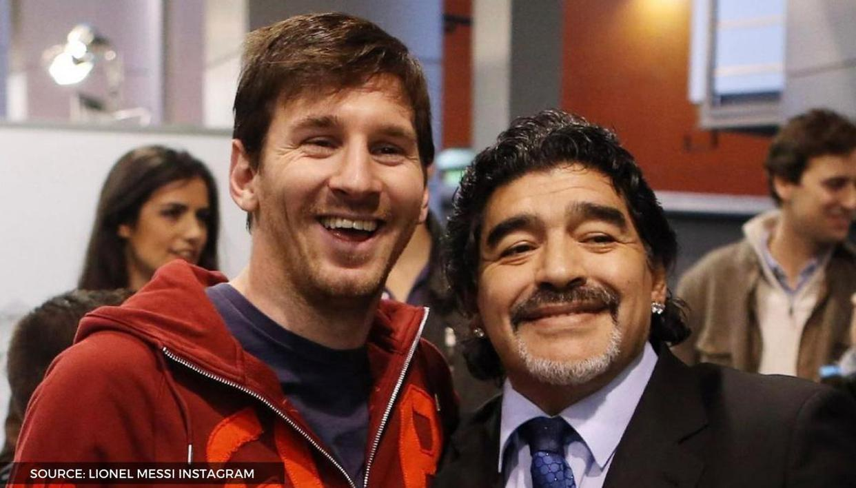 Diego Maradona and Lionel Messi team up for 'football tennis' in throwback video: Watch